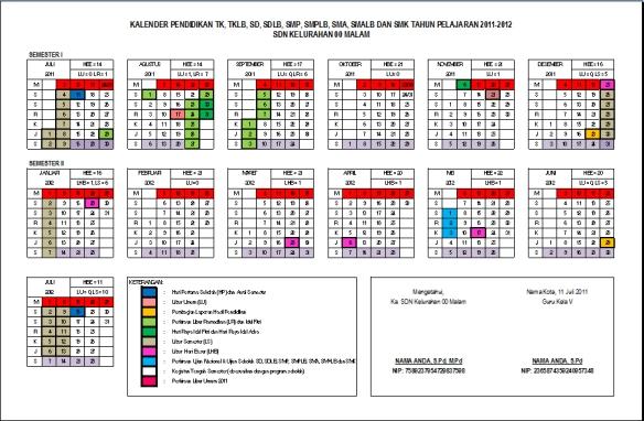 Kalender Pendidikan TP 2011-2012